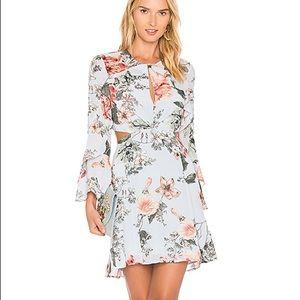 New Bardot floral frill dress open back